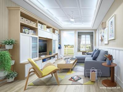 以清新文艺的小资生活为家庭范本,用自然恬静的配色营造温馨舒适的家庭氛围