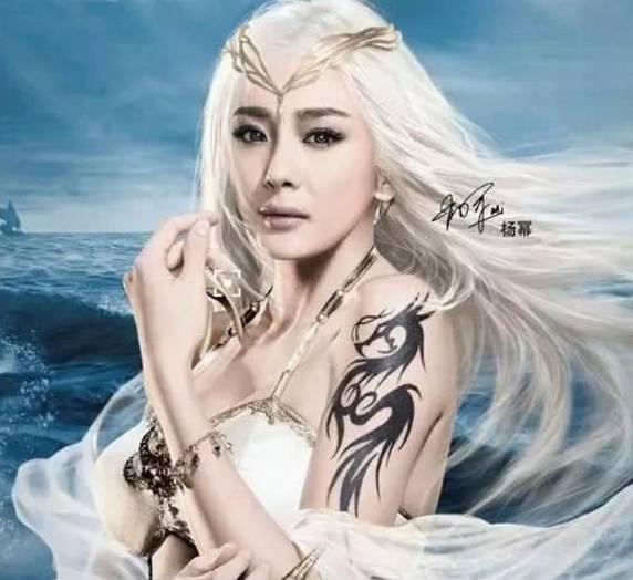 女明星游戏代言造型,杨幂变白发少女,刘亦菲仙气,刘诗诗漂亮