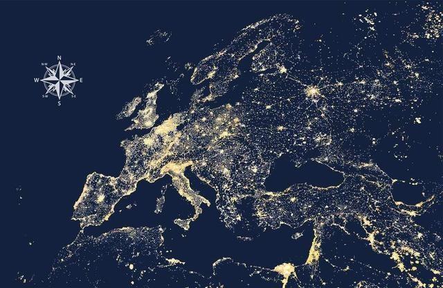 欧洲人口最多的五个国家:德国、法国、英国、