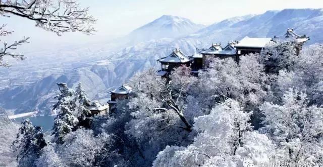 崆峒山雪景(图文)