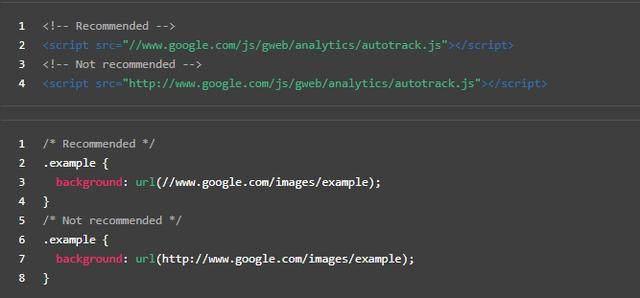 省略外链资源URL协议部分