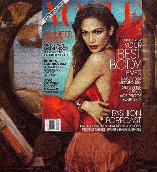 当世界经典名画碰上现代时尚杂志竟然毫无违和感