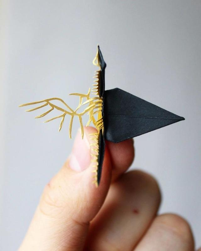 外国小哥巧手叠千纸鹤  而且还这么美!   教程