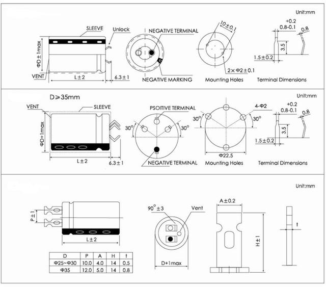 400V系列铝电解电容器选型