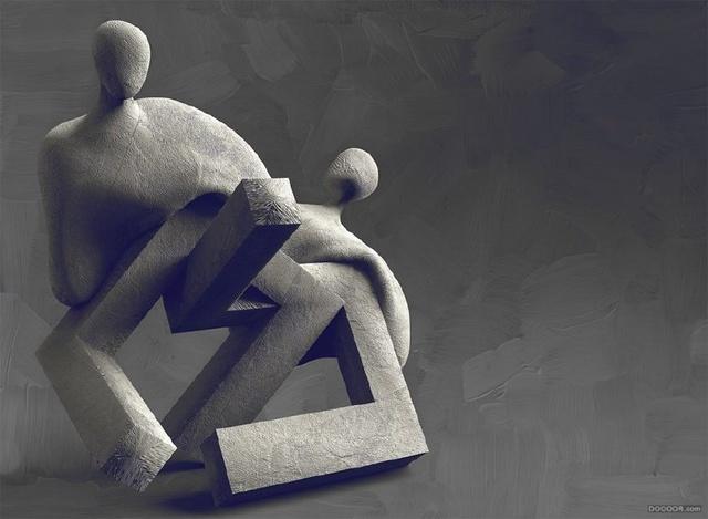 方圆欧洲抽象人体雕塑