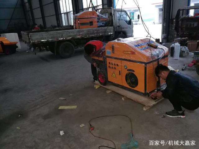 小型二次构造柱输送泵高调占领浇筑行业