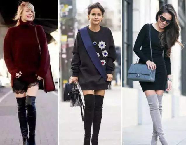 冬季懒人时尚单品!毛绒短外套搭长筒靴 让你优