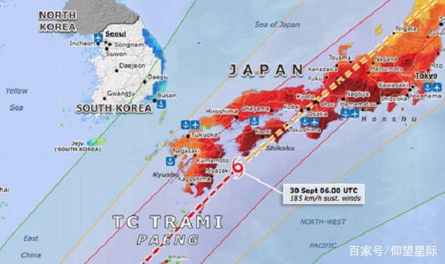 """东京处于戒备状态!超强台风""""潭美""""以时速183公里逼近日本"""