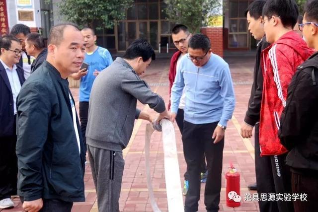 范县思源实验学校开展消防安全培训及消防器材实操演练活动