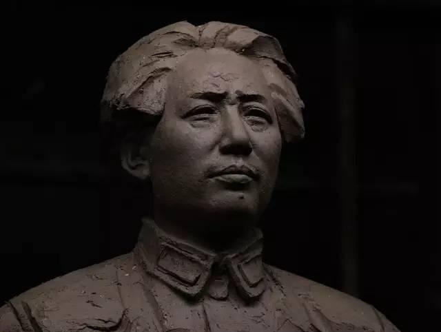 毛泽东铸铜人物肖像雕塑泥塑