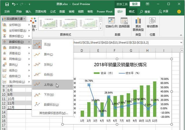 如何制作Excel双坐标轴图表