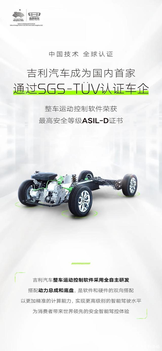 再創行業第一!吉利汽車榮獲中國首傢SGS-TV認證車企