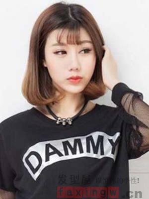 韩式波波头短发发型,减龄一百分哦,你们一定要试下!