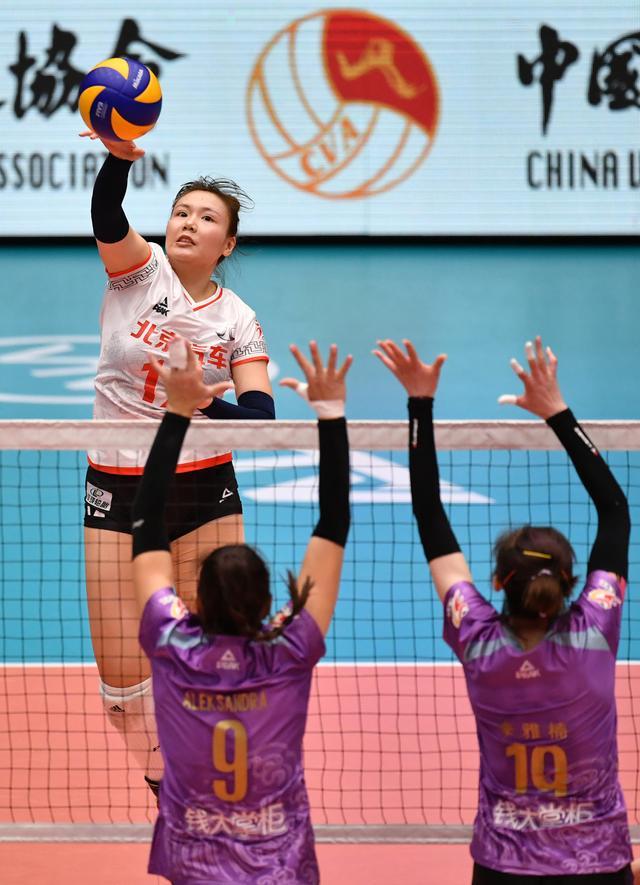 排球--女排超级联赛:天津渤海胜北京汽车