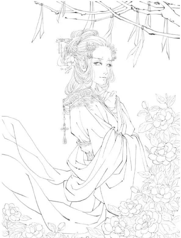 教你画古风美人:古风手绘插画技法入门教程