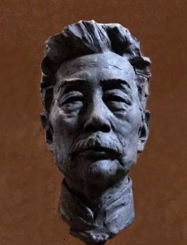 鲁迅铸铜人物肖像雕塑