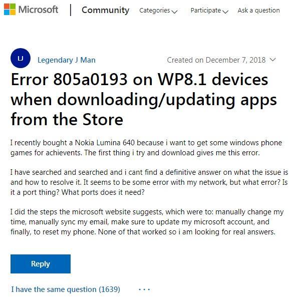 微软Windows Phone应用商店关停 用户无法下载应用