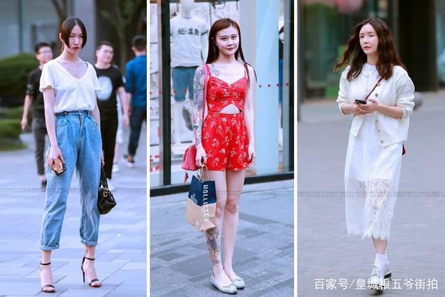 街拍:身材好的人穿衣服就是好看
