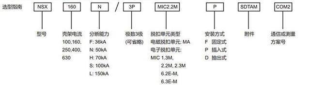 施耐德NSX断路器-施耐德断路器NSX参数型号说明书