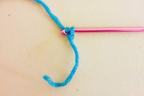 男士围巾编制方法步骤四