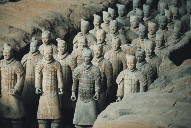 秦始皇兵马俑的探测和发掘