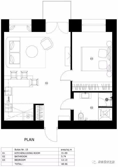 【现代】现代公寓这样的设计太牛了!-第44张图片-赵波设计师_云南昆明室内设计师_黑色四叶草博客