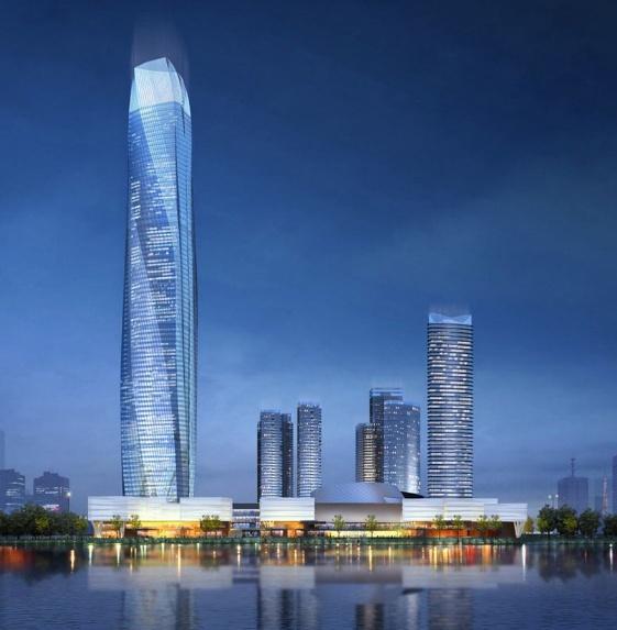 浙江正建设的高楼,450米堪称省内第一高楼,不在杭州也不在温州