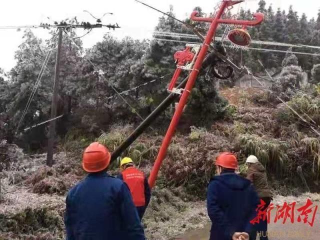 国网祁东县供电公司:寒流侵境众力抗冰 做好供电服务工作