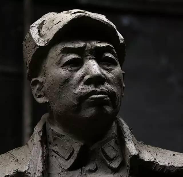 彭德怀铸铜人物肖像雕塑泥塑