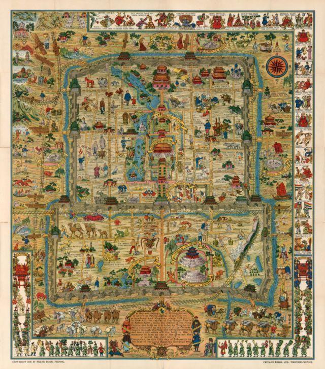 1936年,美国人画了张老北京地图,简直是太有才