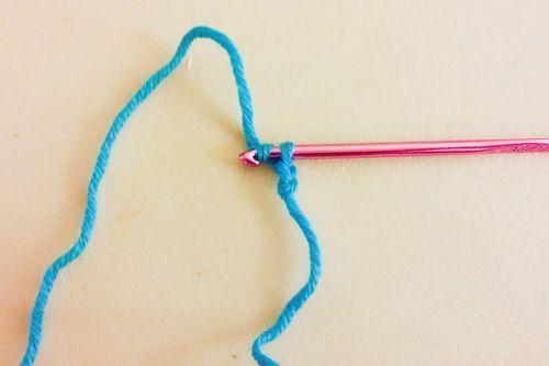 男士围巾编制方法步骤七