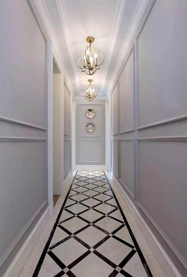 走廊地面砖,这样铺设有档次!