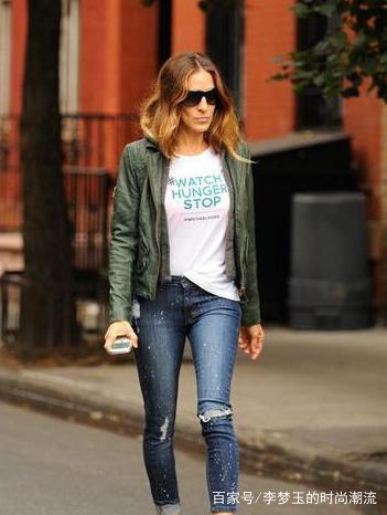牛仔裤:现实中最为常见的服装搭配