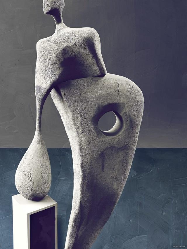 花岗岩欧洲抽象人体雕塑
