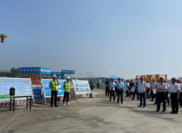 揚塵治理樣板!中建一局濟寧龍城坤園項目迎200人觀摩團