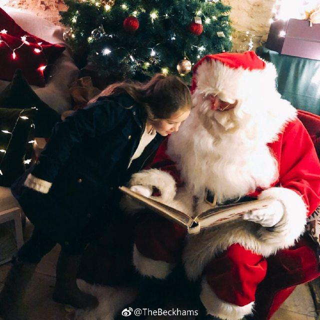 贝克汉姆伪造圣诞老人脚印为儿女送上惊喜。