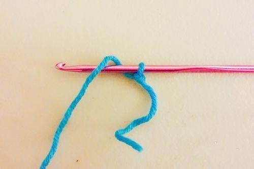 男士围巾编制方法步骤三