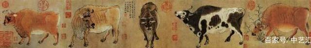 名画鉴赏:登上中国十大传世名画的五只牛