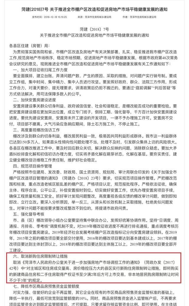 """春节后首例!安徽阜阳打响松绑""""第一枪"""":取消这类房子限价条款"""
