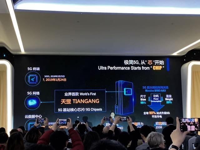 华为发布全球首款5G基站核心芯片天罡 并已完