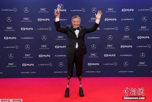 夏伯渝获劳伦斯奖 靠双腿假肢登上珠峰的登山选手