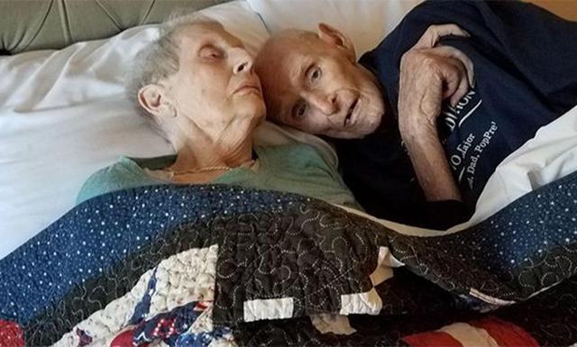 一对96岁的恩爱夫妻,相伴71年在同一天离世