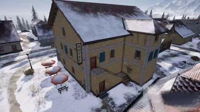 绝地求生:雪地地图建筑大盘点,太刺激,这款房子暗藏神秘特效?