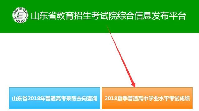 山东省2018年夏季普通高中学业水平考试成绩