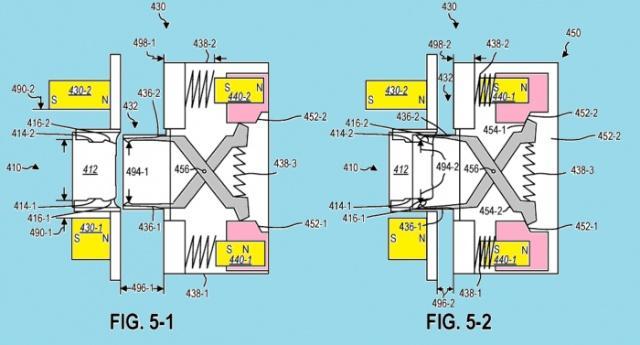 微软专利磁性USB-C Surface连接器装置