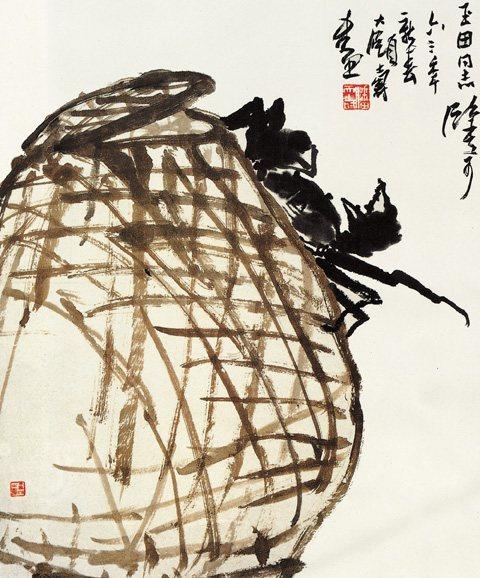 中国传世名画《秋蟹图》――潘天寿
