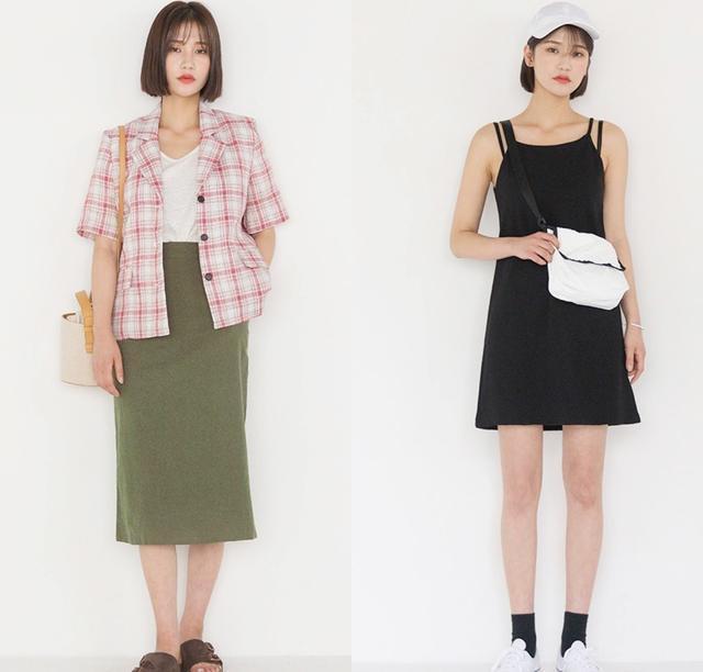 短發搭配Polo衫+半身裙幹凈利落,153cm穿出183的氣場,適合秋季