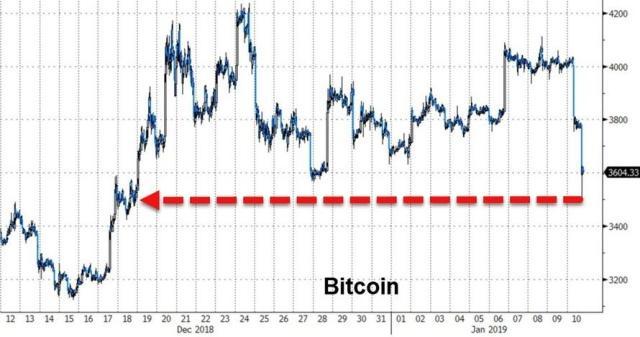 bitcoin variation 2019