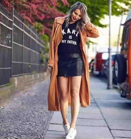 外套加裙子的3種搭配法,美哭瞭!時髦又精致,看著就讓人心動!